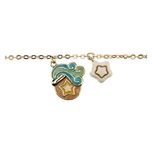 THUN - Bracciale da Donna con Segno Zodiacale Acquario - Oroscopo - Gioielli Donna - Ottone Placcato Oro e Ceramica