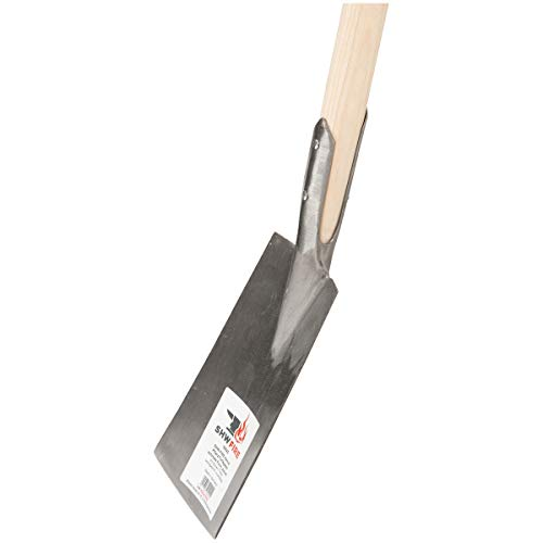 SHW-FIRE 59042 Pflanzspaten Torfspaten Spaten Stahl Handgeschmiedet Geschmiedet Schmal mit Stiel Holzstiel 95 cm lang