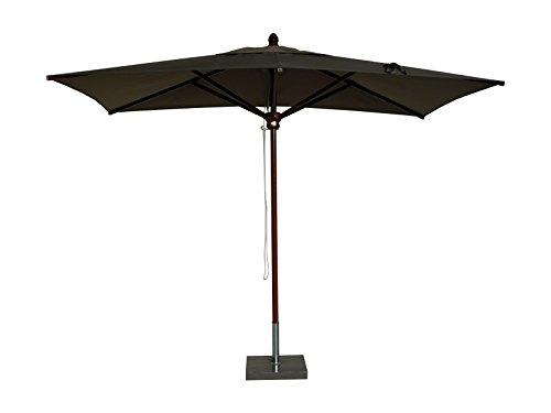 Maffei Art 152R Timbers Parasol rectangulaire en Bois cm. 300X200. Fabriqué en Italie. Couleur Taupe