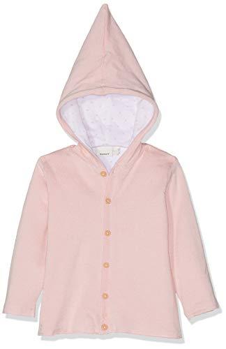 NAME IT Unisex Baby Jacke NBNDESIL LS Knit Jacket, Rosa (Strawberry Cream), (Herstellergröße: 68)