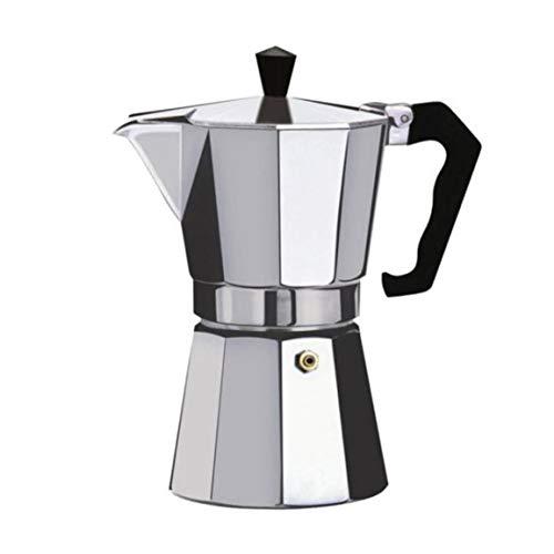 Bellaluee Cafetera Aluminio Mocha Espresso Percolador Olla Cafetera Moka Olla Espresso Shot Maker Espresso Machine
