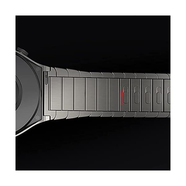 VeveXiao Bracelet compatible avec montre Huawei GT 46 mm/GT2 Pro/GT2 46 mm/Porsche 22 mm Bracelet en métal réglable pour montre Samsung Galaxy 46 mm/Galaxy Watch 3 45 mm/Gear S3 Band