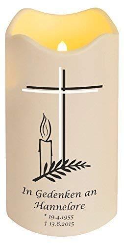 Livingstyle & wanddesign LED kaars met naam (motief 15), kunststof