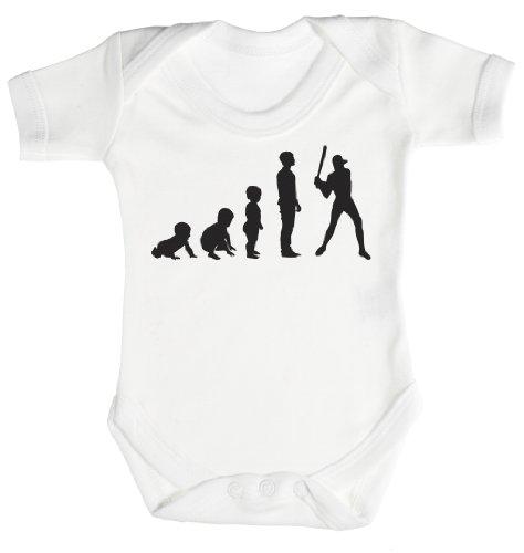 Baby Buddha - Evolution to A Baseball Player Body bébé/Barboteuses bébé 3-6 Mois Blanc