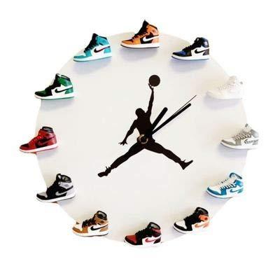 MALILI Reloj de Pared con Mini Zapatillas 3D, Decorado con Estilo de 1 a 12 Relojes, diseño novedoso Reloj de Pared con Zapatillas 3D hogar, la Cocina y la salaG
