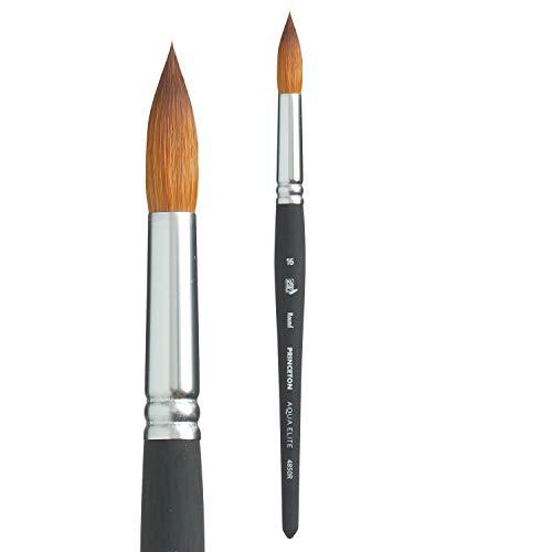 Princeton Aqua Elite, Series 4850, Synthetic Kolinsky Watercolor Paint Brush,Round, Size 16