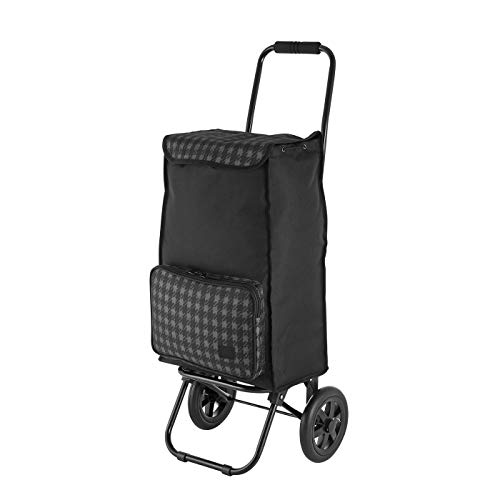 Rada Einkaufstrolley ER/1 40 Liter, robuster Marktroller, Einkaufswagen, Handwagen, mit 2 Rollen, wasserabweisender Transportwagen mit großen Rädern, (ckeck 2tone Cognac)