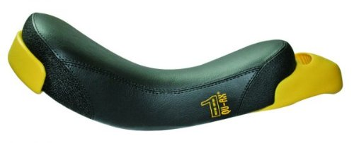 QU-AX Streetstyle Sattel für Einrad schwarz mit gelbem Griff