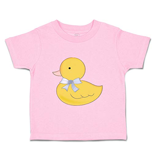 Custom Baby & Toddler T-Shirt Bathe Duck in Bow Cotton Boy & Girl Clothes Funny Graphic Tee Soft Pink Design Only 18 Months