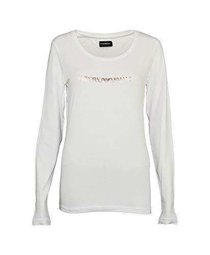 Emporio Armani Underwear dames 1633787A263 shirt met lange mouwen, wit (Bianco 00010), 36 (fabrikantmaat: S)