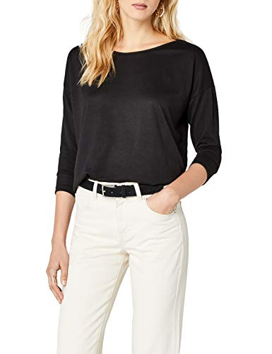 ONLY Damen Langarmshirt Onlelcos 4/5 Solid Top Jrs Noos, Schwarz (Black), 38 (Herstellergröße: M)