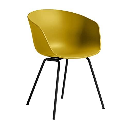 HAY AAC 26 Armlehnstuhl Gestell Stahl schwarz, senfgelb Sitzschale Polypropylen Gestell Stahl schwarz pulverbeschichtet mit Kunststoffgleitern