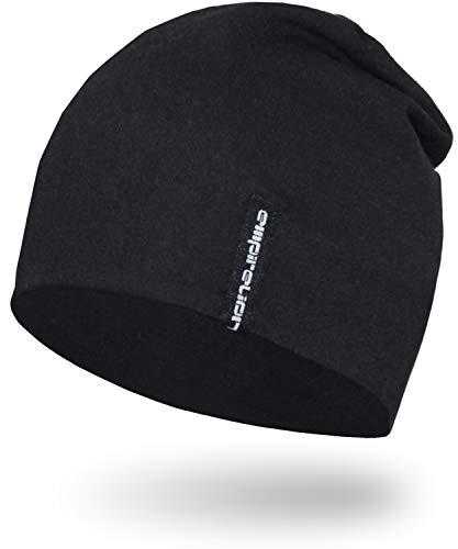EMPIRELION 9' Multifunctional Lightweight Beanies Hats, Running Skull Cap Helmet Liner Sleep Caps for Men Women (Black)