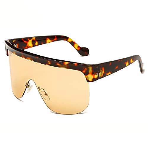ShZyywrl Gafas De Sol De Moda Unisex Gafas De Sol De Gran Tamaño para Mujeres Y Hombres, Gafas Cuadradas, Monturas Grandes, Gafas De Sol para Hombres, Gafas De