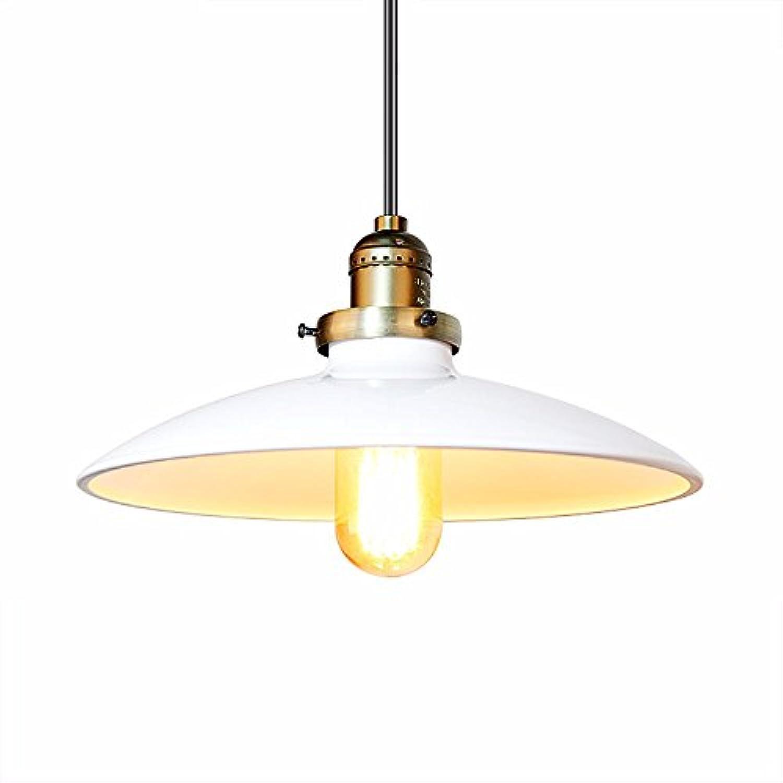 Joeiy Pendelleuchte Eisenbronze wei Loft Pendellampe Vintage Hngelampe Modern Hngeleuchte industrial LED Retro Wohnzimmer Esszimmer Schlafzimmer Küche