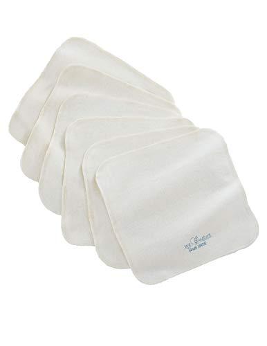 Bio Baby Waschlappen Moltontüche 100% Bio-Baumwolle (kbA) GOTS zertifiziert, Natur, 20 x 20 cm, 6er-Set