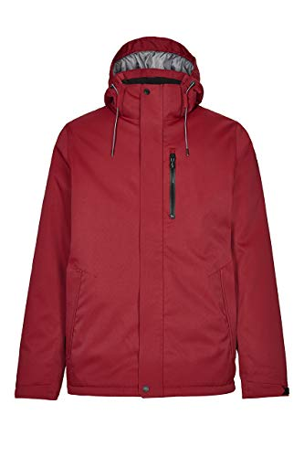Killtec Chaqueta funcional Savio para hombre / chaqueta de exterior / chaqueta de invierno con capucha desmontable, impermeable, columna de agua de 10.000 mm, Hombre, 34079-000, granate, extra-large
