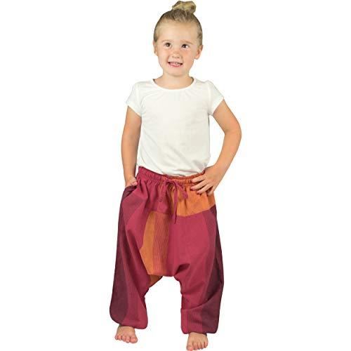 Nitya Design Pumphose für Kinder Sari Haremshose Aladinhose Pluderhose rot 86/92