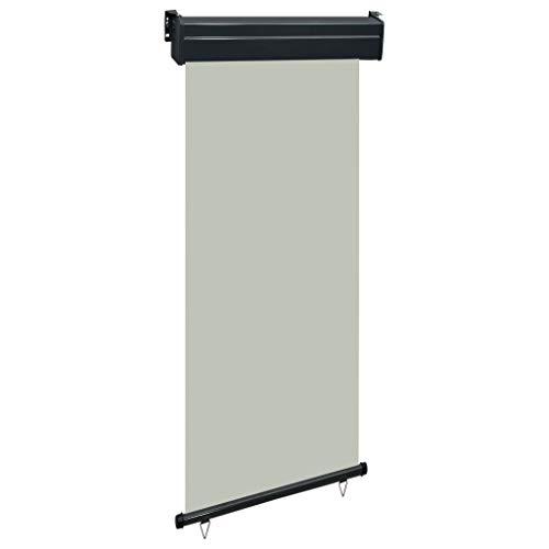 UnfadeMemory Balkon-Seitenmarkise Terrassenmarkise mit Selbstsperrfunktion Seitenwandmarkise Ausziehbare Markise (80 × 250 cm, Grau)