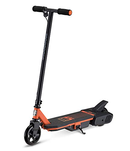 Mongoose React Electric Kids Scooter, Boys & Girls Ages 8+, Max Rider Weight Up to 175lbs, Varying Max Speed, Aluminum Handlebars and Frame, Rear Foot Brake, Battery and Charger Included, E2