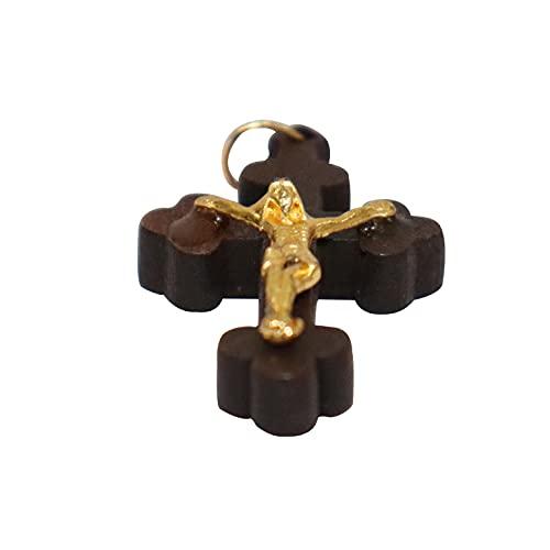 NK GLOBAL Colgante de cruz de Jesús con colgante de oración de crucifijo bohemio, colgante de joyería étnica personalizada, regalo religioso para ella