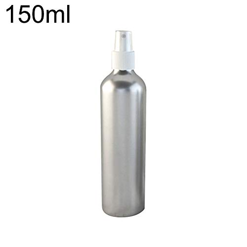 Ruby569y Flacon de voyage en aluminium rechargeable pour produits cosmétiques, 30–150 ml, flacon vaporisateur – Blanc 120 ml