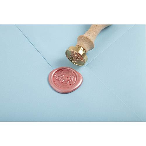Herbin 46300T - Juego de sello de lacre con iniciales dobles, morado