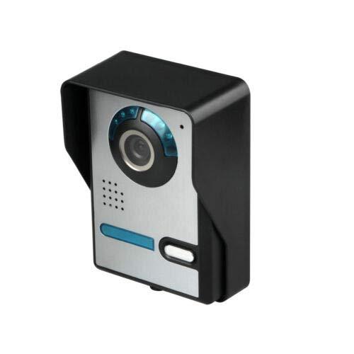 Fetcoi Videoportero digital con cable, monitor con cámara exterior, mando a distancia, apertura de puerta y aplicación, habla e indicadores