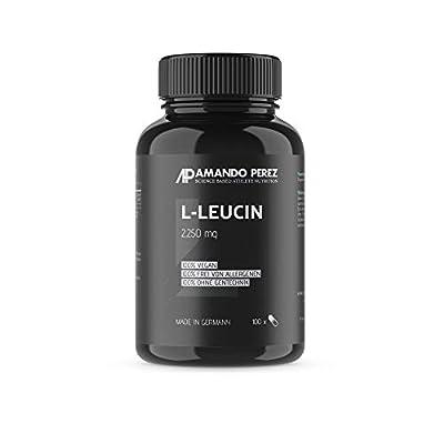 L-Leucine 2250Mg Per Serving–100Capsules–Essential Amino Acid by Amando Perez ® Quality Sports Nutrition