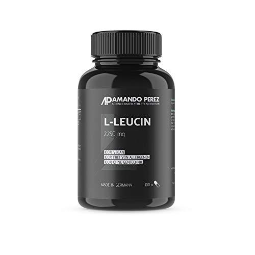 L-leucine - 2250 mg par dose - 100 capsules - acide aminé essentiel pour la synthèse des protéines