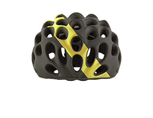 Catlike Fahrradhelm Whisper Evo 2019, Schwarz - Yellow Stripe, S