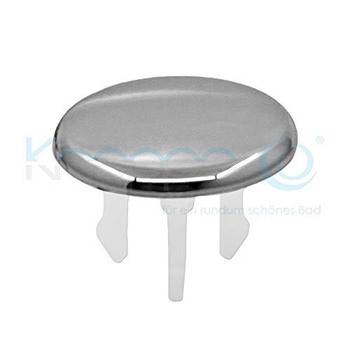 KNOPPO® Waschbecken Überlauf Abdeckung, Überlaufblende - Cap (6 verschiedene Design-Modelle) chrom
