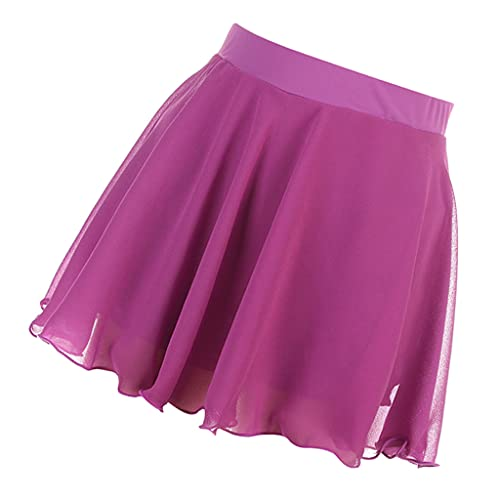 sharprepublic Patinaje de Hielo Rosa/de Baile, Faldas Cortas para Cadera con Pantalones Cortos de Forro - Rosa Roja, XS