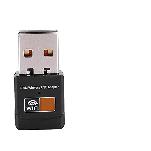 Receptor WiFi, 2.4G-5G Rango de frecuencia de Trabajo Modo Ap Suave Adaptador WiFi USB ABS para computadora portátil para programas de televisión para computadora de Escritorio