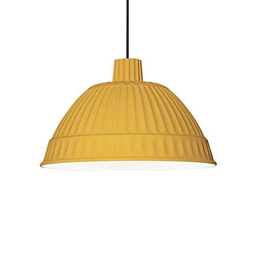 Cloche - Suspension jaune miel/blanc à l'intérieur/mat/Ø45cm/gradable extérieur