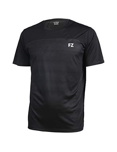 FZ Forza - Sport T-Shirt Helsinki - schwarz, für Herren - geeignet für Fitness, Running, Fußball, Squash, Badminton, Tennis etc. - L
