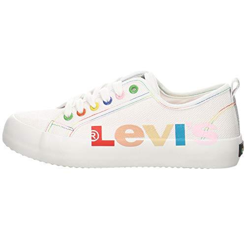 Levi´s Kids Mädchen Sneaker Betty Rainbow Canvas Weiss Gr. 36