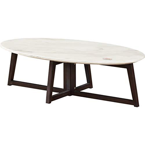 Couchtisch Einfacher ovaler Naturstein-Marmor-Couchtisch, Kreatives unregelmäßiges Weiden-Tablett, Wohnzimmer-Büro für kleine Wohnungen, 80 × 40 × 35 cm