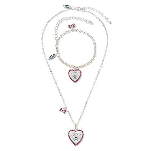 Me To You Herz-Halskette und Armband Tatty Teddy Geschenkset