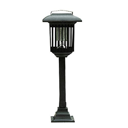 LHGXQ-Dp Asesino De Mosquitos Solar, Hogar, Patio Al Aire Libre, Luz Ultravioleta Automática para Matar Mosquitos, Lámpara Impermeable, Diseño Atmósfera 2 Piezas,Negro,2pcs