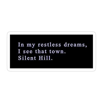 Sneaky Cover  3 PCs/Pack  Silent Hill 2 in My Restless Dreams 3x4 Inch Die-Cut Stickers Decals for Laptop Window Car Bumper Helmet Water Bottle