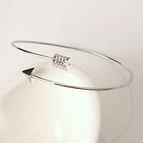 GHJDSFOG Armband Erweiterbar Charm Armbänder Für Frauen Armband Schmuck Mode Pfeile Gold Silber Manschette Armbänder & Armreifen Einfache Armband Männer