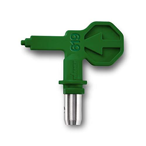 WAGNER Control Pro HEA Düse 619 für WAGNER Control Pro Airless Farbsprühsysteme für Latexfarben, Dispersionen, Rostschutzfarben, < 55% weniger Sprühnebel, grün