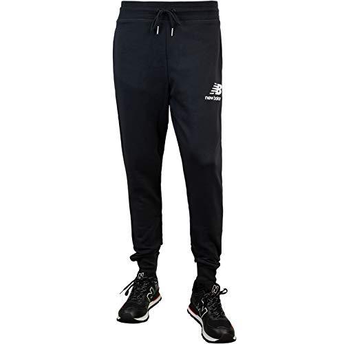 New Balance Essential Stack Logo Slim - Pantalones de chándal negro L