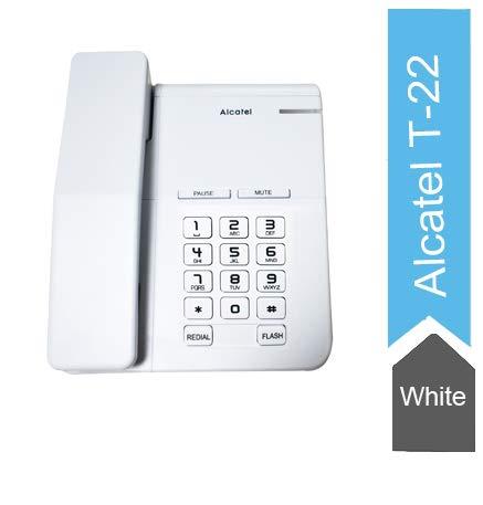 Alcatel T-22 EX White Corded landline Phone with Flashing Corded Landline Phone(White)