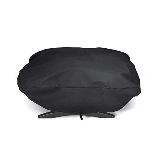 Cubierta para barbacoa Weber 7110 Serie Q1000 para parrilla de horno a prueba de polvo e impermeable, resistente al viento, resistente a los rayos UV, resistente al desgarro 67,1 * 44 * 32 cm
