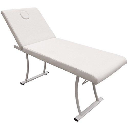eyepower Profi Massageliege Spa Behandlungsliege Kosmetikliege Massagebank Weiß