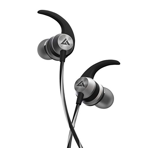 Boult Audio BassBuds X1 in-Ear Wired Earphones with 10mm Extra Bass Driver and HD Sound with mic(Grey Black)
