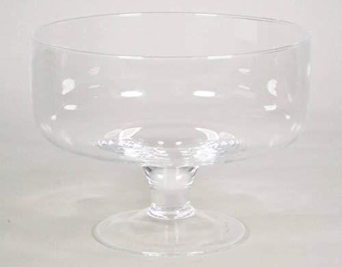 INNA-Glas Frutero Decorativo Corie con pie, cilíndrico/Redondo, Transparente, 14cm, Ø19cm - Recipiente para Frutas - Bandeja de Cristal