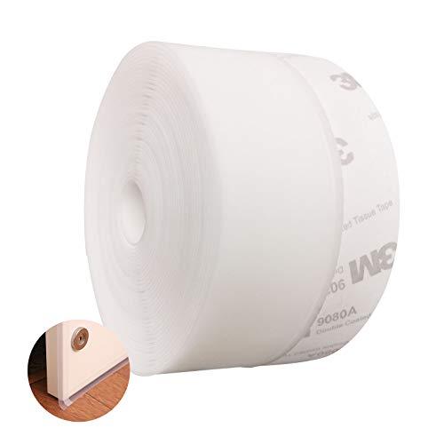 TRIXES Bande Autocollante Blanche en Forme de D Bourrelet de Calfeutrement pour Fen/être 5 M